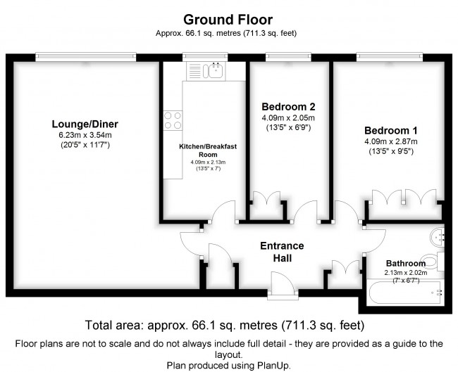 Floorplan for Whitehaven Close, Bromley